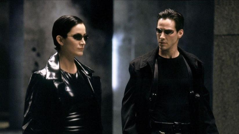 Neo e Trinity in una scena di Matrix