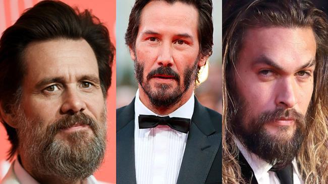 Jim Carrey,  Keanu Reeves e Jason Momoa