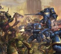 Uno scontro di Warhammer 40.000