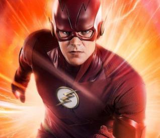 Grant Gustin nei panni di The Flash