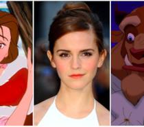 Un primo piano di Emma Watson tra la Bella e la Bestia
