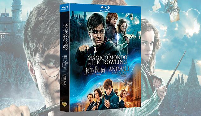 Packshot del cofanetto da 9 film di Harry Potter in recensione