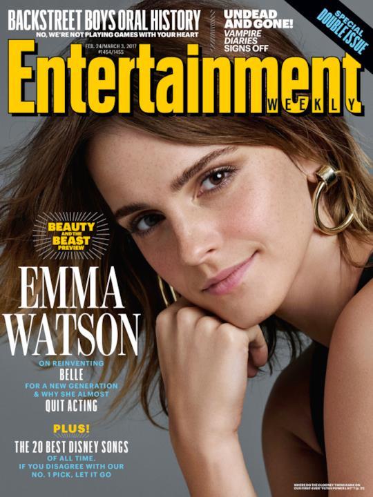 Un primo piano di Emma Watson per la copertina di EW