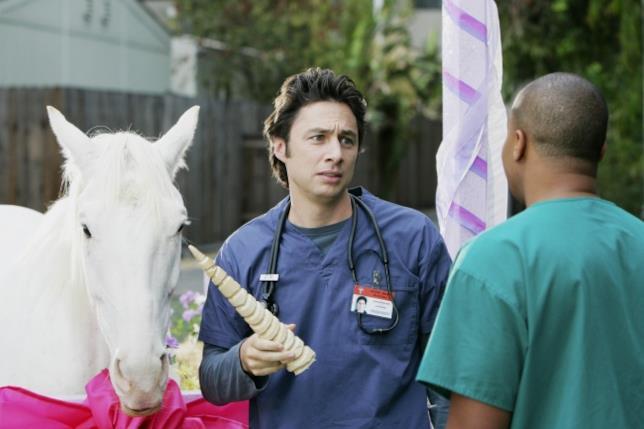 J.D. spiega a Turk che il suo cavallo non è un unicorno