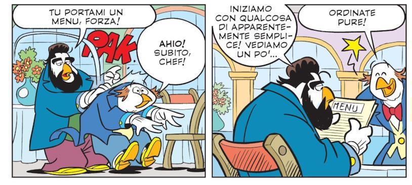 Topolino, numero speciale con chef Paperacciulo e le sue pacche sulle spalle