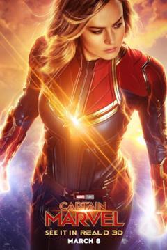 Brie Larson è Captain Marvel nel poster del film dedicato all'eroina