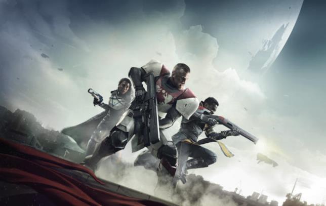 Titano, Cacciatore e Stregone sulla copertina di Destiny 2