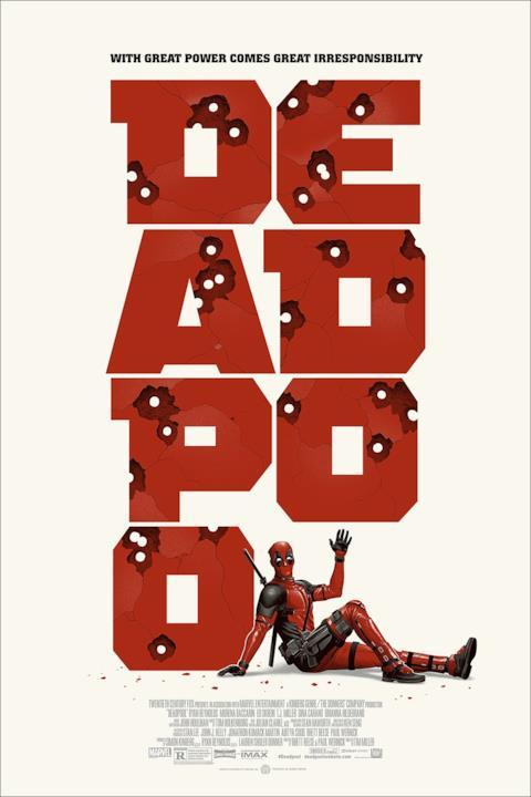 Deadpool ti fa ciao accanto al suo logo