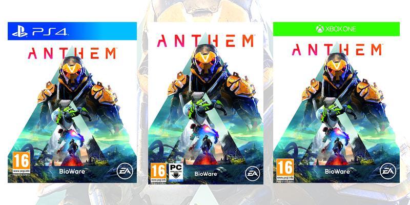 La boxart di Anthem sulle diverse piattaforme