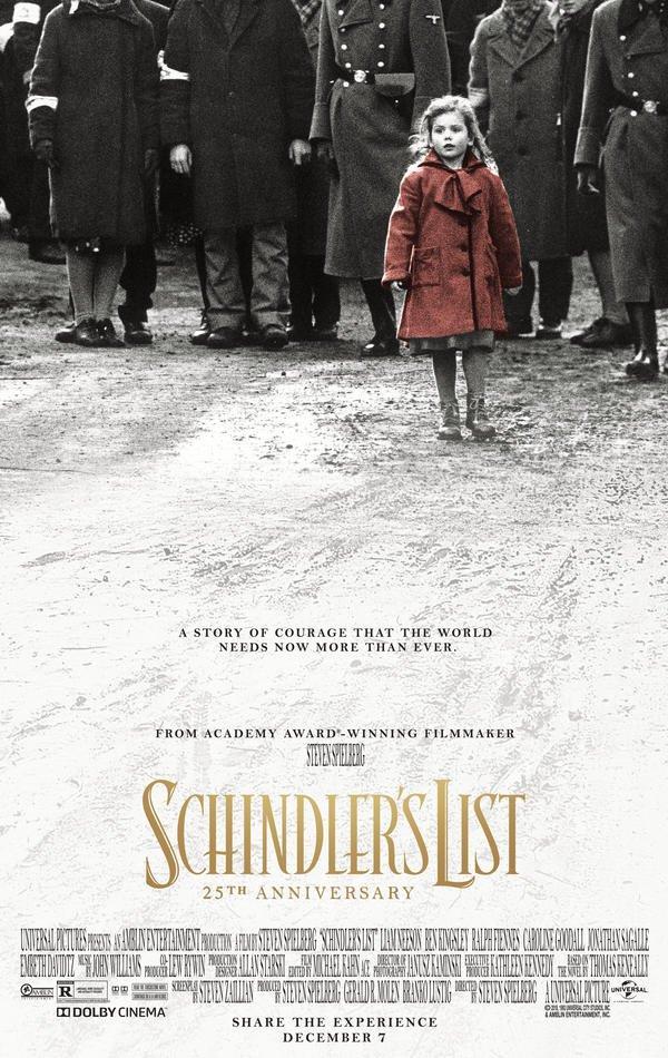Il poster di Schindler's List con la bambina dal cappotto rosso