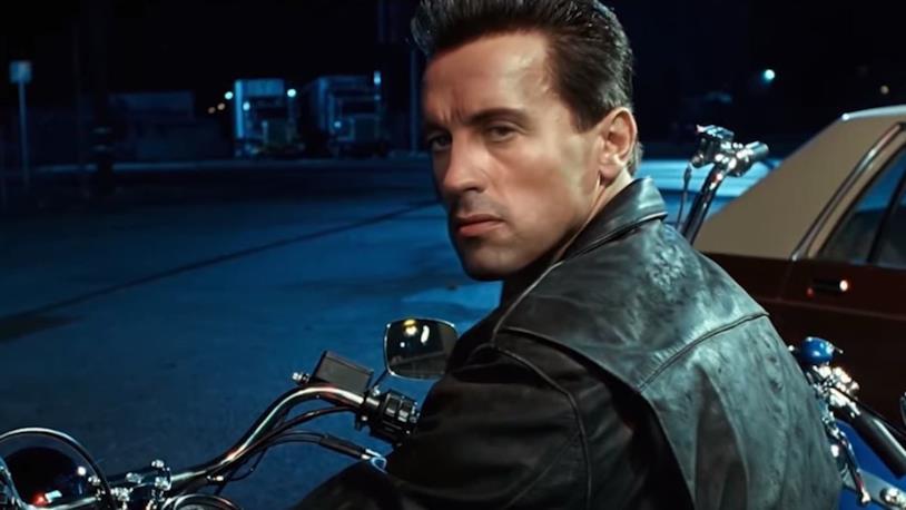Un fermo immagine del video deepfake su Terminator 2