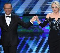 Sanremo 2017, Carlo Conti e Maria De Filippi serata finale