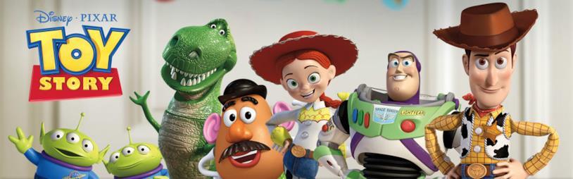 I giocattoli protagonisti della saga animata Pixar Toy Story