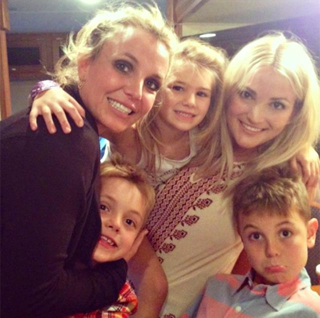 Britney Spears con i suoi figli, Maddie e la sorella Jamie