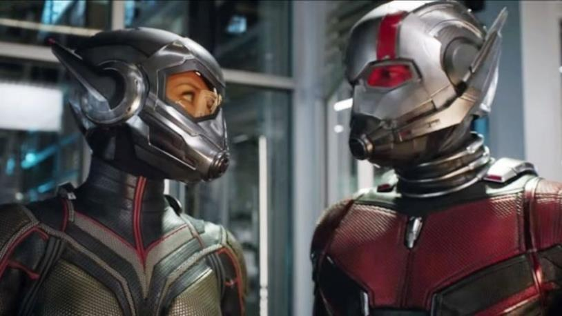 I due protagonisti nel film Ant-Man and the Wasp