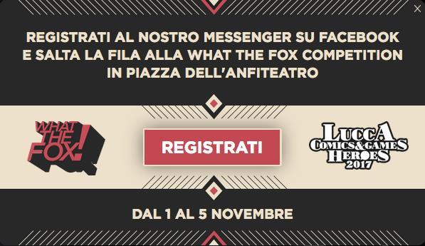 Partecipa alla What The FOX Competition al Lucca Comics & Games