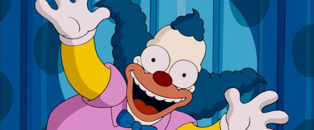 Un primo piano di Krusty