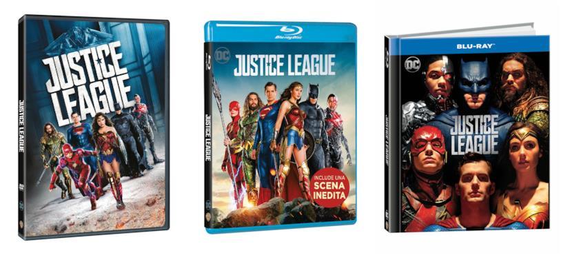 Le edizioni DVD e Blu-ray di Justice League