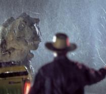 Una scena del primo Jurassic Park