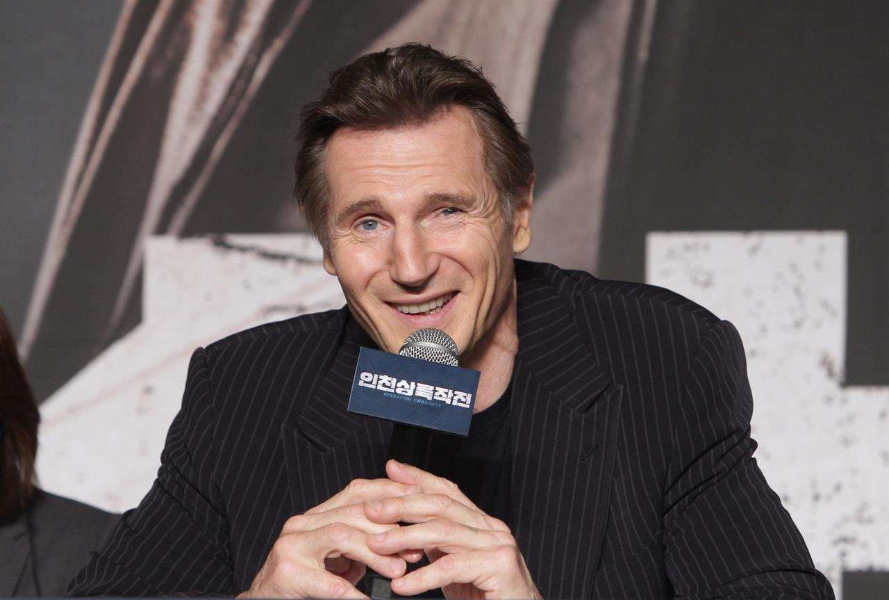 Liam Neeson alla presentazione del film Operaton Chromite, Seoul 2016