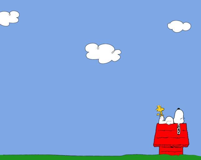 Snoopy sulla cuccia