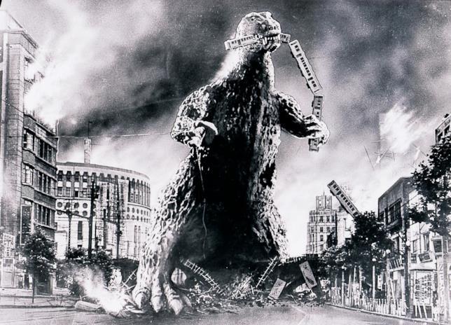 Godzilla del 1954 in bianco e nero