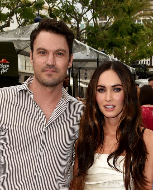 Primo piano di Megan Fox e Brian Austin Green