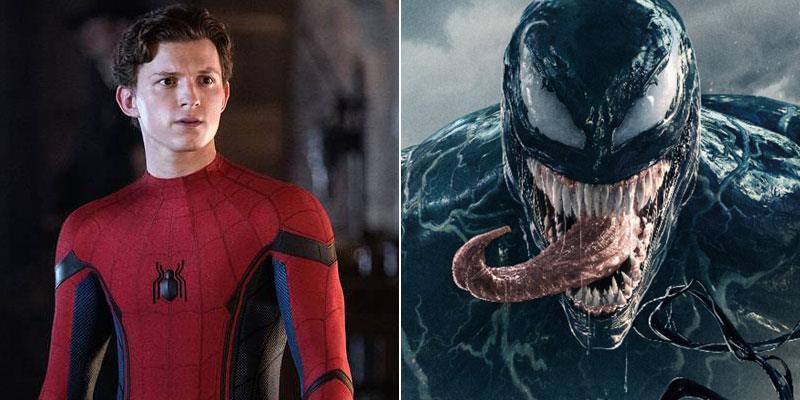 Spider-Man (Tom Holland) e Venom (Tom Hardy(