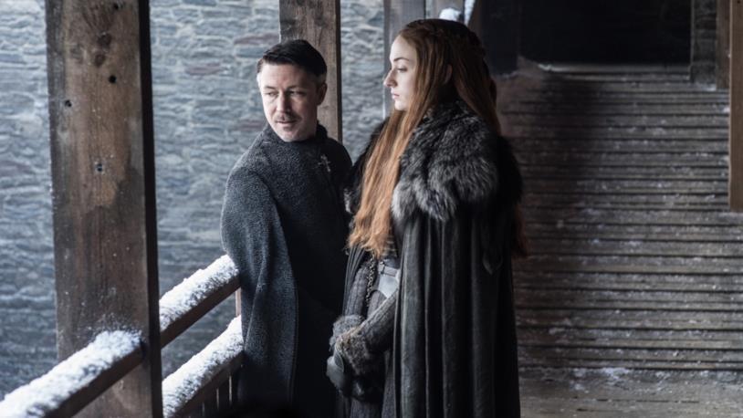 Scena di Game of Thrones con Sansa Stark e Ditocorto