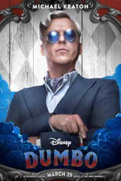 Michael Keaton è V. A. Vandevere nel character poster dal film di Dumbo (2019)