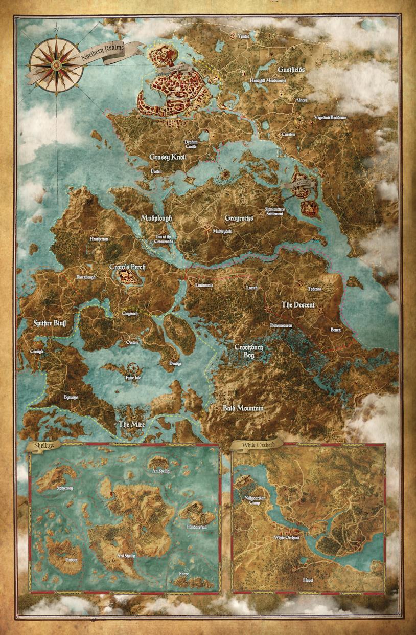 Mappa completa dei Regni Settentrionali di The Witcher
