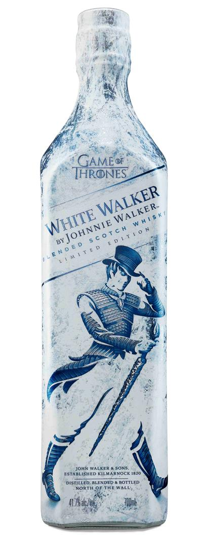 Bottiglia di White Walker, whisky ispirato a Game of Thrones
