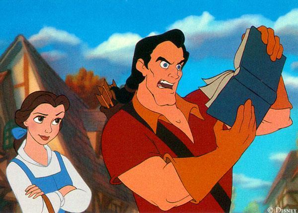 Gaston contesta la passione di Belle per i libri