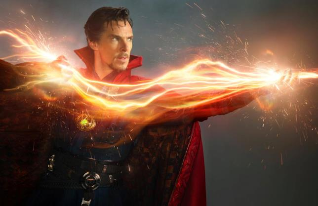 Benedict Cumberbatch nei panni del Dottor Strange