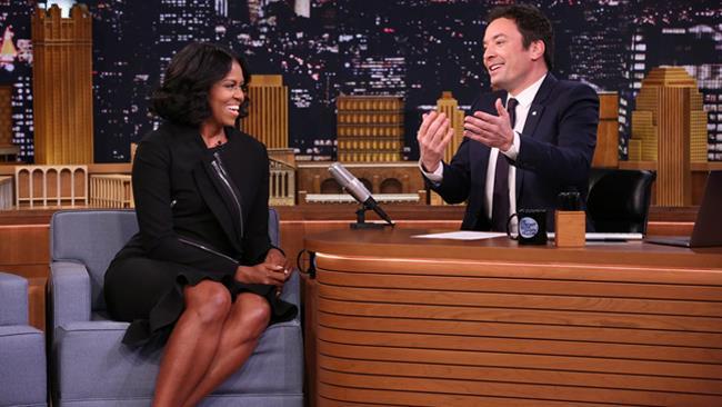 Michelle Obama e Jimmy Fallon al The Tonight Show