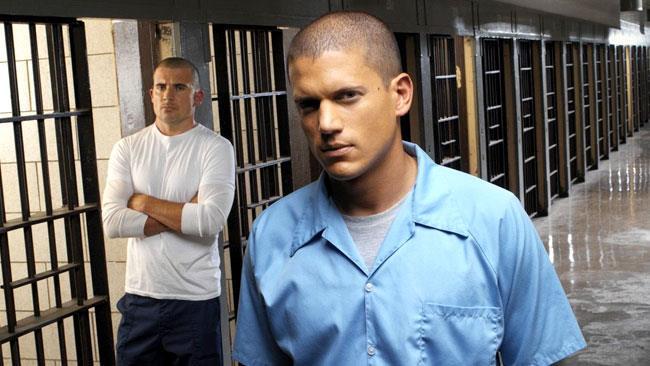 Wentworth Miller e Dominic Purcell nella stagione 1 di Prison Break
