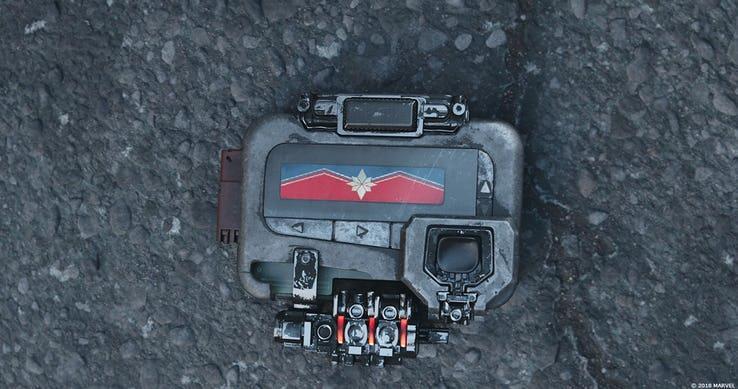 Il simbolo di Capitan Marvel alla fine di Avengers: Infinity War