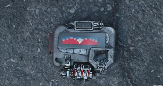 Il trasmettitore con richiesta di aiuto a Captain Marvel