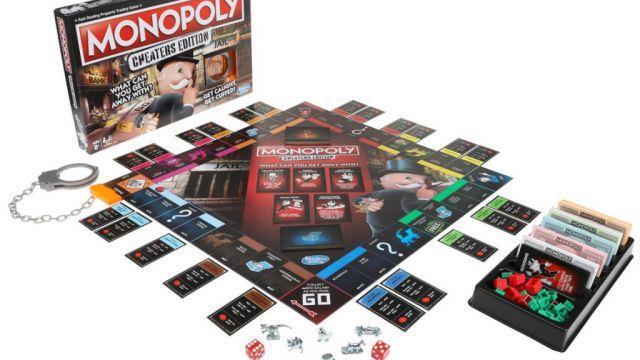 Dettagli sul contenuto della scatola dell'edizione Monopoly Cheater's Edition