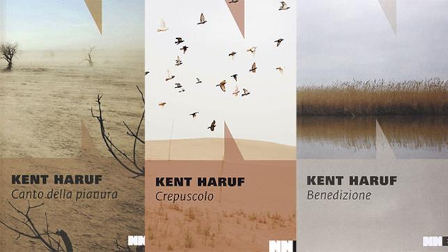 Le tre copertine della Trilogia della pianura
