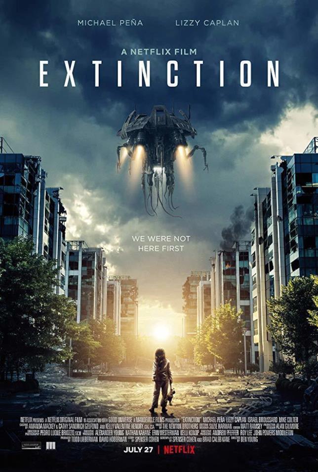 Poster ufficiale del thriller sci-fi Extinction