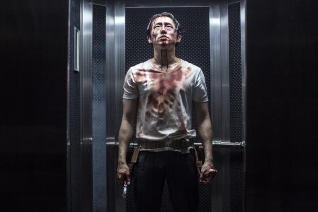 Mayhem, scena con Steven Yeun