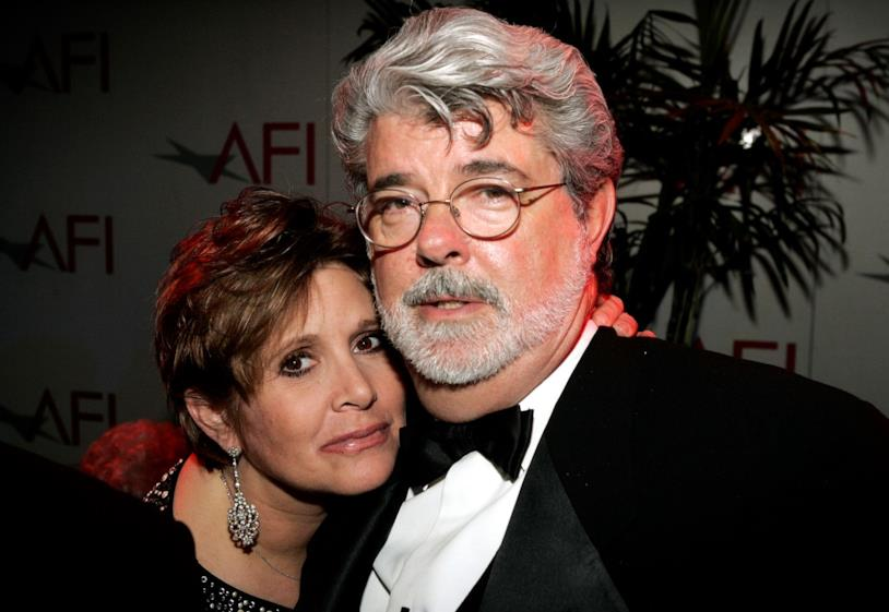 Carrie Fisher e George Lucas a un evento ufficiale