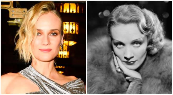 Collage tra Diane Kruger e Marlene Dietrich
