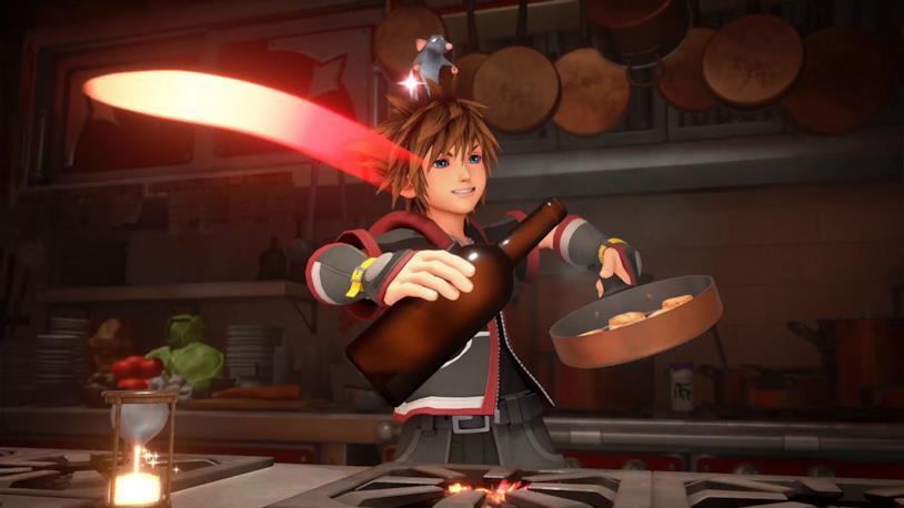 Sora e Remy in Kingdom Hearts 3