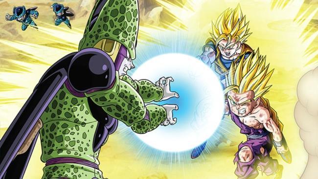 Cell contro Goku e Gohan