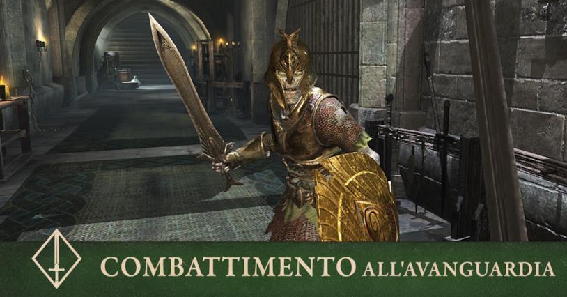 Una scena di combattimento da The Elder Scrolls Blades