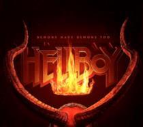Le corna nel teaser poster di Hellboy
