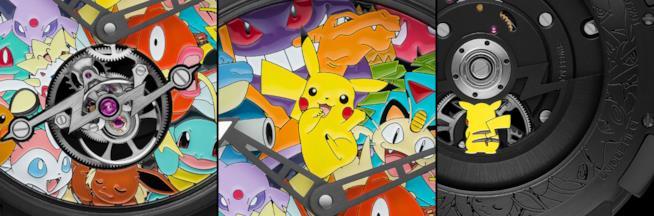 Particolari dell'orologio Pokémon di RJ-Romain Jerome