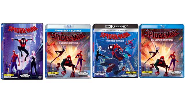 Le cover delle versioni di Spider-Man: Un Nuovo Universo